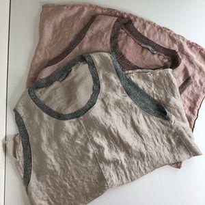 Zara fancy tank tops pack of 2